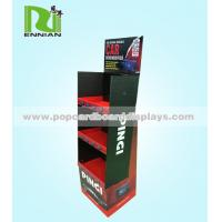 Quality Storage Supermarket advertising POP cardboard stands display Retail Hook Design for sale