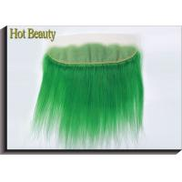 Buy cheap Human Hair Virgin Lace Frontal Closure Straight No Synthetic Green Color from wholesalers