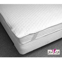 Wholesale White Waterproof Customized Hotel Mattress Protector with 3 cm Satin Strip from china suppliers