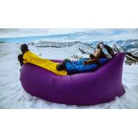 Wholesale Nice purple Inflatable Air Sofa , in stocks inflatable sleeping bag for adults from china suppliers