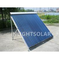 Wholesale 20 tubes white color manifold and frame  heat pipe solar collector panel for shower use from china suppliers