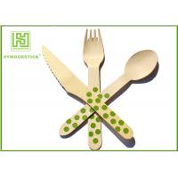 Wholesale Cutlery Set Packing Airline Disposable Wooden Eco Friendly Cutlery For Amazon from china suppliers