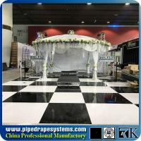 Wholesale Polished wooden white and black color dance floor for exhibition show from china suppliers