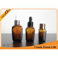 Wholesale Square Amber Essential Oil Glass Bottles 25ml Small Essential Oil Containers from china suppliers
