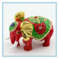 Wholesale Metal Enamel Trinket box with elephant shape from china suppliers