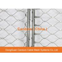 Wholesale AISI 316 Flexible Ferrule Steel Wire Rope Mesh For Bridge Safety from china suppliers