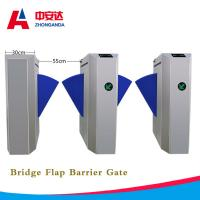 Wholesale Automatic Bridge Flap Wing Barrier Turnstile 1.5mm 304 Stainless Steel Control Turnstile Gate for Subway from china suppliers