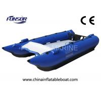 Wholesale Adult Blue 30HP High Speed Inflatable Boats With Aluminum Floor from china suppliers