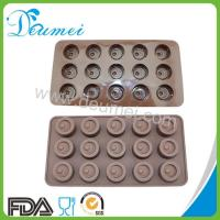 Wholesale Brown Color 15 Cavities Button Shape Silicone Chocolate Mold from china suppliers
