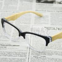 Wholesale Double Color Acetate Eyeglasses with Bamboo Temples (SDM3123) from china suppliers