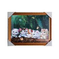 Wholesale Love Cat Image Lenticular 3d Pictures Decoration Craft Modern PS Frame For House from china suppliers