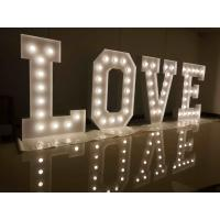 Wholesale Large 21'' LED Decorative Love Light Letters Warm White For Wedding High Brightness from china suppliers