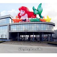 Wholesale Customized Inflatable Mermaid for Roof and Aquarium Decoration from china suppliers