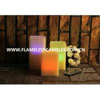 Wholesale Color Changing Square Remote Controlled Flameless Candles for Indoor / Outdoor Decoration from china suppliers
