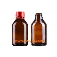 Buy cheap 250ml amber glass bottle for reagent liquids  with tamper evidient caps from wholesalers