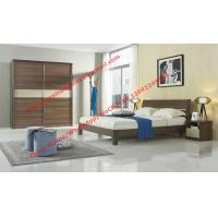 Wholesale Wood & Panel furniture in modern deisgn Walnut color by KD bed with Sliding door wardrobe from china suppliers