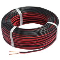 Quality 008 Red & Black Silicone Insulated Twin Flat Cable for sale