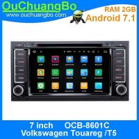 Wholesale Ouchuangbo car dvd audio radio 2G RAM andrioid 7.1 for Volkswagen Touareg T5 with bluetooth 3G Wifi Rear View Camera from china suppliers