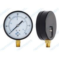 "Wholesale 4 Inch General pressure gauge with 1/4"" connector and two screw in the case from china suppliers"