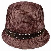 China Fashionable Brown Children's Sinamay Hat with Black GG Band on sale