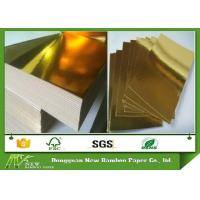Wholesale Metalized Shiny Gold Foil Cardboard Laminated Grey Board Gold Paper Cake Boards from china suppliers