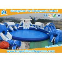 Wholesale Frozen Inflatable Amusement Park For Summer , Inflatable Bouncer And Slide For Kids from china suppliers