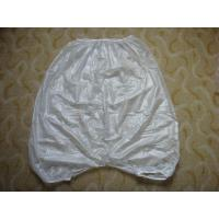 Quality Clear or White Mortuary Garments Vinyl PVC Coveralls All with Seams for sale