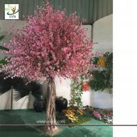 Wholesale UVG CHR150 Beach wedding use tall artificial trees in peach blossom branch and cherry flowers for uk theme decoration from china suppliers