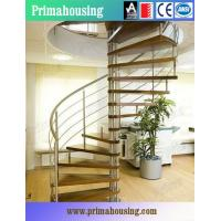 Wholesale Wood Tread Steel Railing Loft Spiral Staircase For Small Places Space Saving from china suppliers