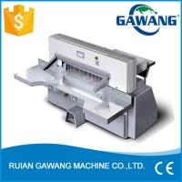 Wholesale Computerized Hydraulic Worm Gear Driving Industrial Guillotine Paper Cutting Machine from china suppliers