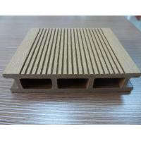 Wholesale UV Resistant 140 × 25mm Brown WPC Decking Board , Wood Plastic Composite Boards from china suppliers