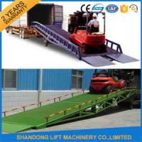 Wholesale 8 Ton Steel Trailer Ramp for Container Loading / Unloading 0.75kw 2.2kw Power from china suppliers