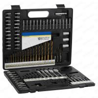 Wholesale 101pcs Metal Case Packaging Drill Bit Set with Masonry Drill Bit and SCREWDRIVER BITS from china suppliers