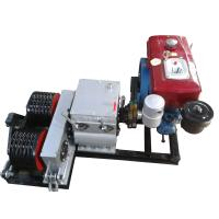 Wholesale 50KN Cable Winch Double Capstan 5 Ton Cable Pulling Winch With Diesel Engine from china suppliers