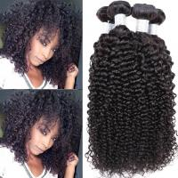 Wholesale 100% Human Peruvian Human Hair Weave , Kinky Curly Human Hair Weave Bundles from china suppliers