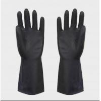 Quality heave duty latex black industrial rubber glove for sale
