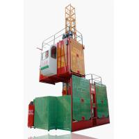Wholesale Single / Twin Cage 1T 2T Construction Hoist Elevator, Building Lifting Machine SC100/100 from china suppliers