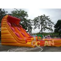 Quality Double Lane Kids Large Lava Wave Slide inflatable Vocano Water Slide For Sale for sale