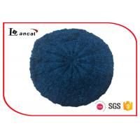 Wholesale Cable Pattern Womens Knit Beret Hat Acrylic Fabrics With Dark Blue Lurex from china suppliers