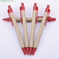Wholesale eco paper promotional ball point pen,craft paper ball pen,eco ballpoint pen from china suppliers