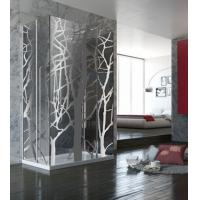 Wholesale Custom Art Glass Shower Partition , Tempered And Lamination Glass from china suppliers