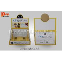 OEM PDQ Corrugated Counter Display Point Of Sale With Square Holes Pop Design