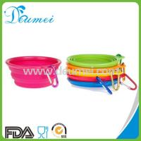 Wholesale 100% Food Grade Foldable Retractable Silicone Pet Water Food Feeding Dog Travel Bowl from china suppliers