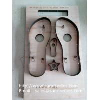 Buy cheap Slipper sole steel cutting dies, slipper sole plywood steel rule dies factory China from wholesalers