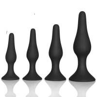 Wholesale Couple pleasure body safe Anal Sex Toys 4 Piece purple black Silicone Anal Plug butt plug Set from china suppliers