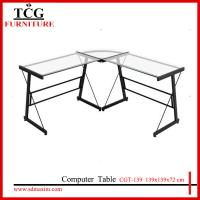 Wholesale TCG 2015 new  glass l shape computer desk CGT-139 from china suppliers