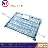Wholesale Large Four Wheels Transport Wire Mesh Container For Grocery store / Shop / Supermarket from china suppliers
