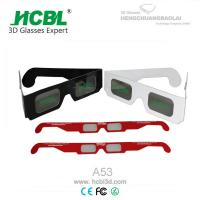 Wholesale Comfortable DIY Paper Cardboard Chroma Depth 3D Glasses For Kid / Children from china suppliers