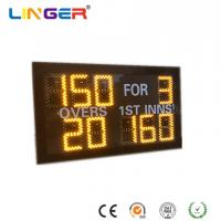 Wholesale Small Model Digital Cricket Scoreboard In Yellow Color With IR Hand Held Remote Control from china suppliers