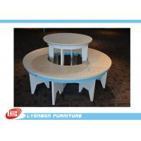 Wholesale Fashionable Retail Store Round Gondola Display Table White For Hand Bags from china suppliers